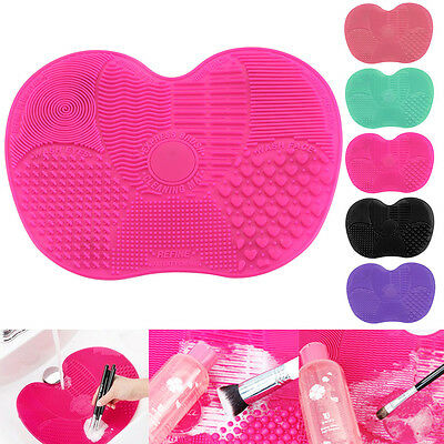 Lady Silicone Makeup Brush Cleaner Washing Cosmetic Scrubber Board Mat Pad Tool