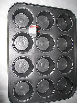 LARGE 12 HOLE MUFFIN TRAY NON STICK  Oven Fairy/Cup Cake Baking TartTin/Pan 36cm