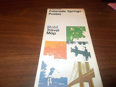 1976 Mobil Denver/Colorado Springs/Pueblo Vintage Road Map