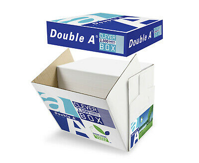 Double A A4 Copy Paper 80gsm 2500 Sheets Cleverbox - White