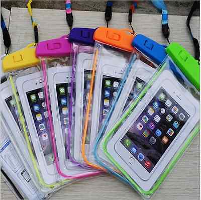 NEW Fluorescent Cover Bag Dry Pouch For Mobile Phone Underwater Waterproof Case