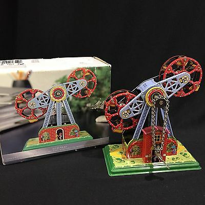 Tin Toy Windup Twin Ferris Wheel Gondola Riesinrad Collector Only Metal Repro.