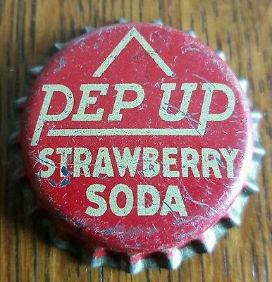 PEP UP STRAWBERRY soda bottle cap unused cork crown