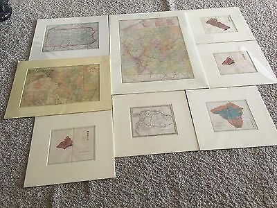 9 Antique Map Collection