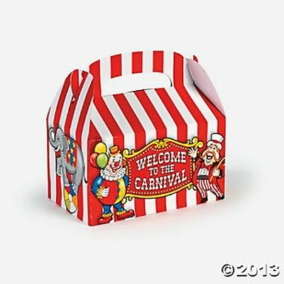 12 WELCOME to the CIRCUS Carnival PARTY FAVOR TREAT Loot Goody BOXES Birthday