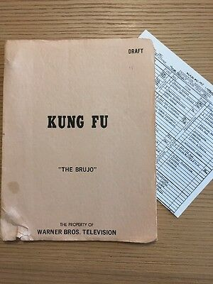 "Vintage Kung Fu Original TV Script 1973 ""The Brujo"" David Carradine"