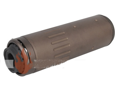 BD SILENZIATORE SCAR QD AAC Silencer CCW TAN DE SHORT AIRSOFT SOFTAIR
