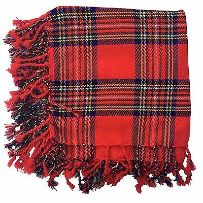 "Scottish Kilt Fly Plaid Royal Stewart Tartan 48"" x 48""/Highland Kilt Fly Plaids"