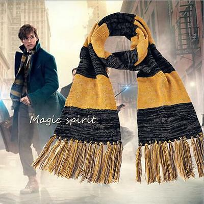 New Fantastic Beasts and Where to Find Them Scarf Cosplay Newt Scamander Knitted