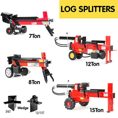 8T ELECTRIC HYDRAULIC LOG SPLITTER WOOD TIMBER FIREWOOD CUTTER 15T Petrol Wedge