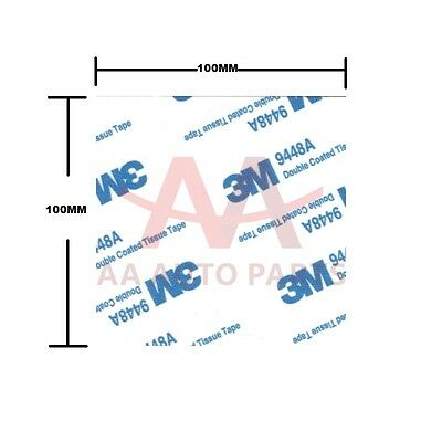 2 X 3M 9448A Double Sided Adhesive foam tape white sticky pads 100MMX100MM