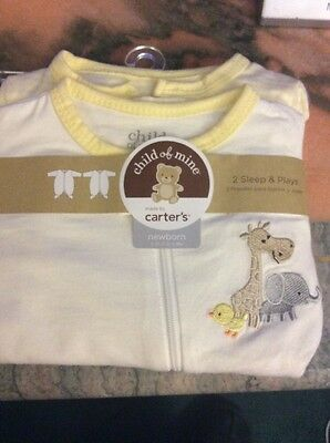 New Lot Of 2 Carters Child Of Mine sleep and play bodysuits newborn - Cotton