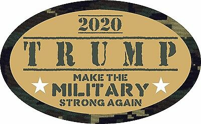 Trump Sticker Make Military Strong 2020 Election Political Window Bumper Decal