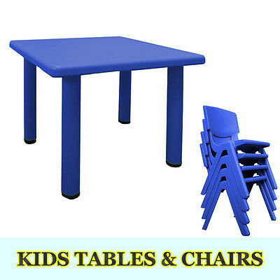 4 colour Children Kids Toddler Table and chair set plastic Square Activity