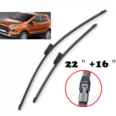 Set of 2 Windshield Wiper Blades Front Window Fit For 2013-2015 Ford Ecosport