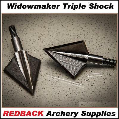 Widowmaker Triple shok Solid Broadhead 125 grn 3 pack for bowhunting arrows