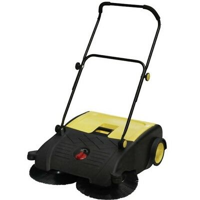 WALK BEHIND MANUAL FLOOR SWEEPER LARGE 42 Litre (Industrial FACTORY Warehouse)