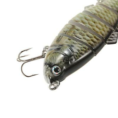 Lifelike 6 Jointed Swimbait Fishing Lure Hard Bait Fish Hook Fishing Tackle I5Y5