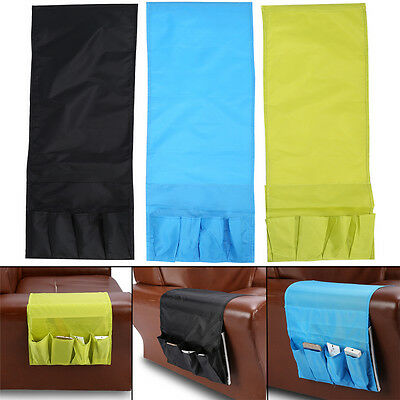 Sofa Couch TV Remote Control Holder Arm Rest Organizer Storage Bag Pouch Pocket