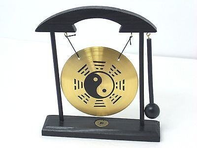 Yin Yang Zen Gong Table Feng Shui Meditation Desk Bell Home Office Decor Gift