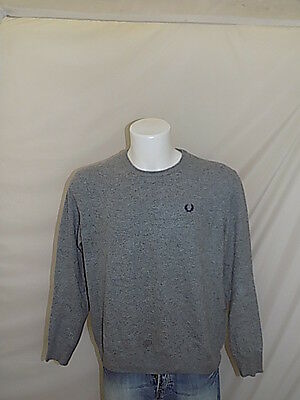 Fred Perry Maglione Jumper Sweater Pullover L Casual R237
