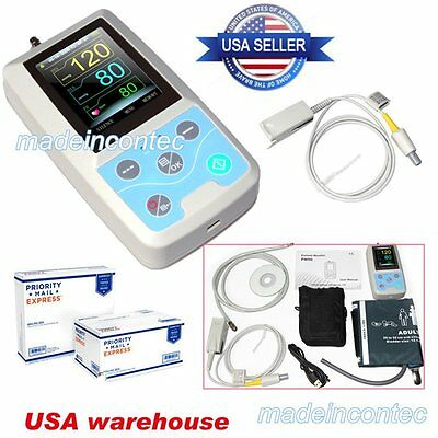 PM50 Portable Blood Pressure NIBP/Spo2 Patient Monitor+SPO2+Probe US FDA CONTEC