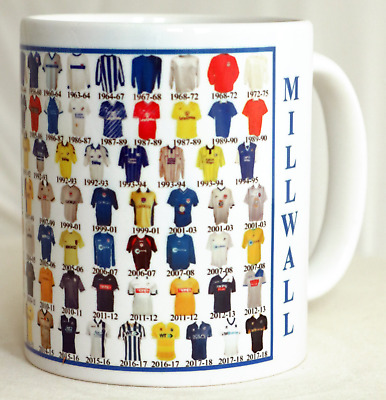 Millwall Mug Football shirt history New Gift