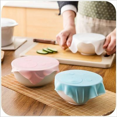 Cartoon Cute Microwave Bowl Food Plastic Wrap Silicone Sealing Cover Reusable