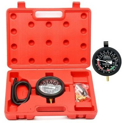 Carburetor Valve Fuel Pump Pressure and Vacuum Tester Gauge Test Tool Kit US