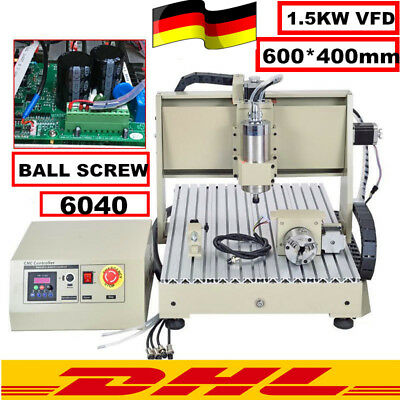 6040 Cnc Router Engraver 4 Axis Engraving Carving Drilling Milling Machine 1500W