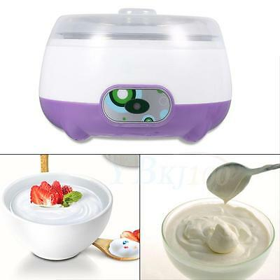 15W 1L Purple Stainless Steel Automatic Delicious Yogurt Maker DIY Container