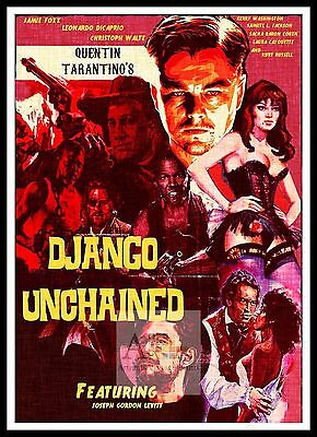 Django Unchained  Poster Greatest Movies Classic & Vintage Films