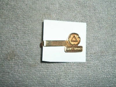 Org Vint Nos Cities Service Uniform Tie Clasp - Great Cond