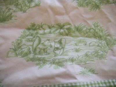 POTTERY BARN KIDS Toile Baby Girl Bumper