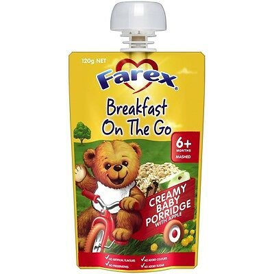 Farex Breasfast Baby Porridge 6 Month+ 120G NEW Cincotta Chemist