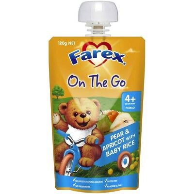 Farex Breakfast Pear & Apricot Rice 4 Months+ NEW Cincotta Chemist