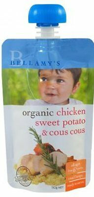 Bellamys Chicken/Sweet Potato/Cous Cous 110G NEW Cincotta Chemist
