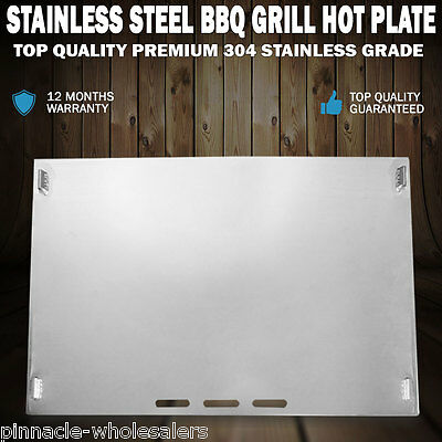 NEW Stainless Steel BBQ Grill Hot Plate 49 X 32CM Premium 304 Grade