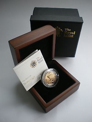 Rare 2012 ROYAL MINT UK GOLD PROOF SOVEREIGN - WITH BOX & COA