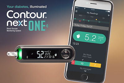 Contour Next One USB Blood Glucose Monitor With 10 Strips and Lancets