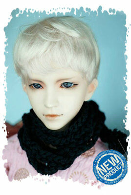 """3-4"""" Blond Synthetic Mohair 1/12 BJD  Doll Short Wig"""