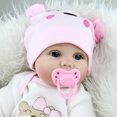 Cute Real Baby Doll Toys Lifelike Awake Girl Doll with Rubber Teat for Kids Gift