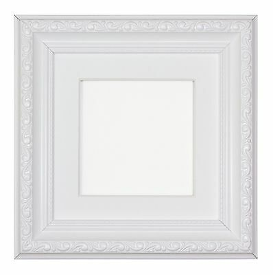 Instagram Square Ornate Shabby Chic Picture frame photo With Mount White