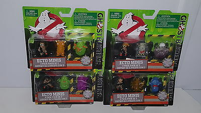 NEW Lot of 4 Ghostbusters Ecto Minis Figures 3 Pack Patty Erin Jillian Abby