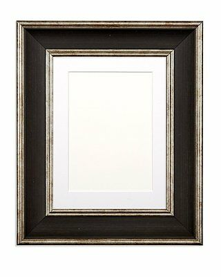 Shabby Chic Picture Frame, SC Photo, Poster Frame Vintage With Mount Black Distr