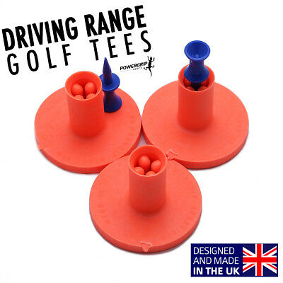 40mm Orange Powergrip Sport Rubber Tee Holders For Golf EXTRA STRONG