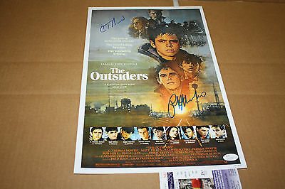 The Outsiders 11X17 Movie Poster Signed By Ralph Macchio & C Thomas Howell Jsa