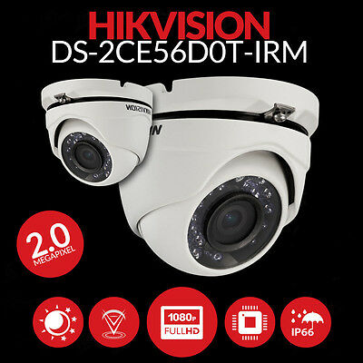 Hikvision Dome Camera Telecamera 2Mp Ip66 Ir Hd 1080P Ds-2Ce56D0T-Irm Led