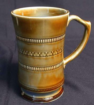 "Wade Shamrock Harp Handle Irish Porcelain Mug Tankard Stein 6 1/2"" Tall"