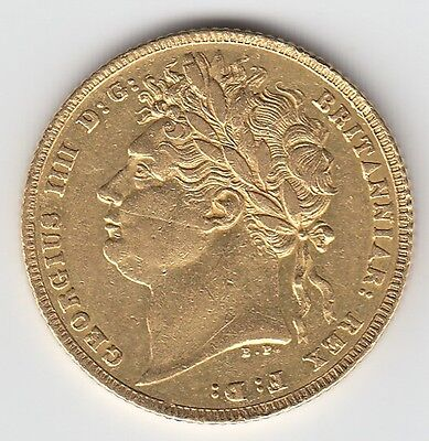 1821 KING GEORGE IV FULL GOLD SOVEREIGN COIN - Great Britain